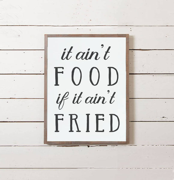 """Fried Food"" Wall Sign - The Painted Porch Co"