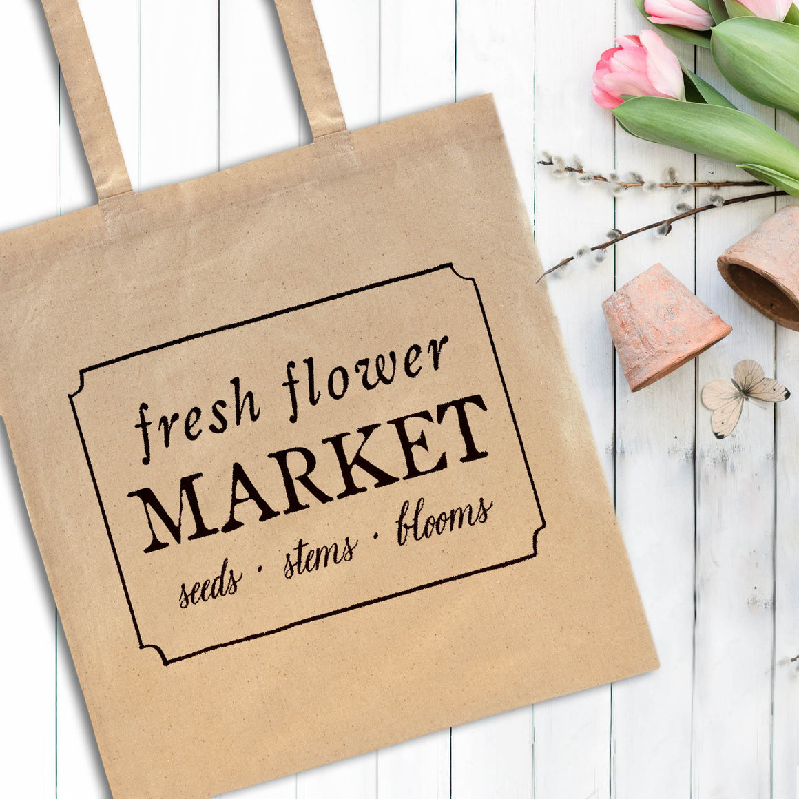 Flower Market Tote Bag - The Painted Porch Co