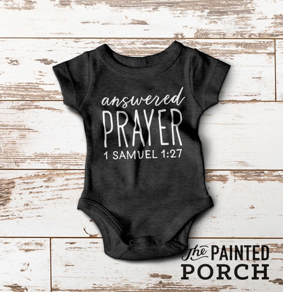 Answered Prayer Baby Onesie - The Painted Porch Co