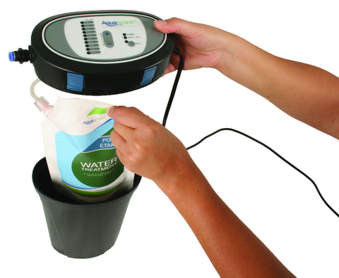 Aquascape Automactic Dosing Systems take the work out of maintaining your backyard pond.
