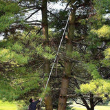 The Silky Hayauchi Pole Saw will reach heights up to 25'