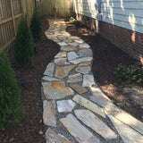 Installing Flagstone walkways is a snap with Dimex Multipurpose No-dig Yard Edging