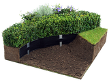 Oly-Ola Super-Edg in 100' rolls are perfect for garden bed edging