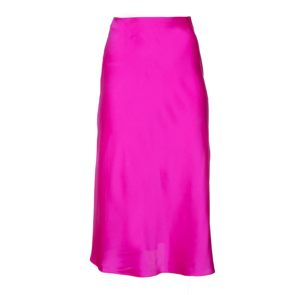 Shocking Pink Midi Skirt