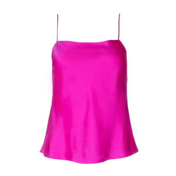 Shocking Pink Silk Tank