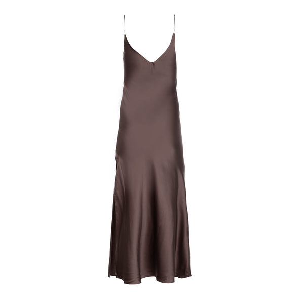 Smoke Silk Slip Dress