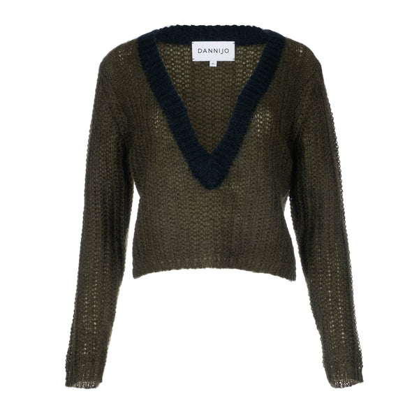Forrest Green Cropped Sweater