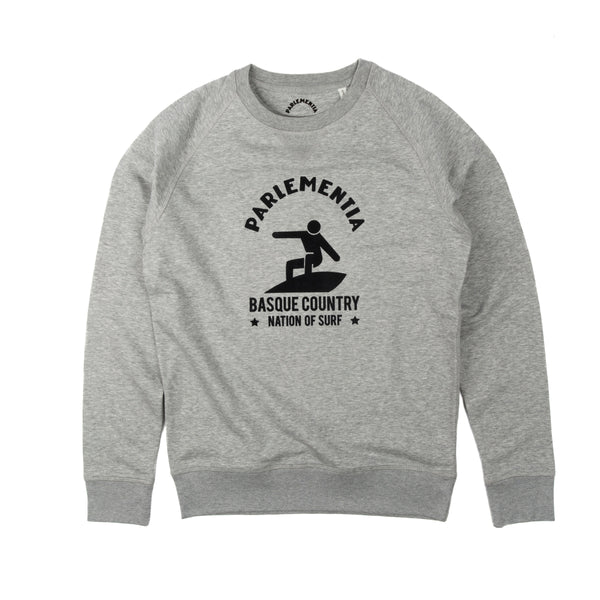 Parlementia Unisex Grey and Black Surfer Sweatshirt