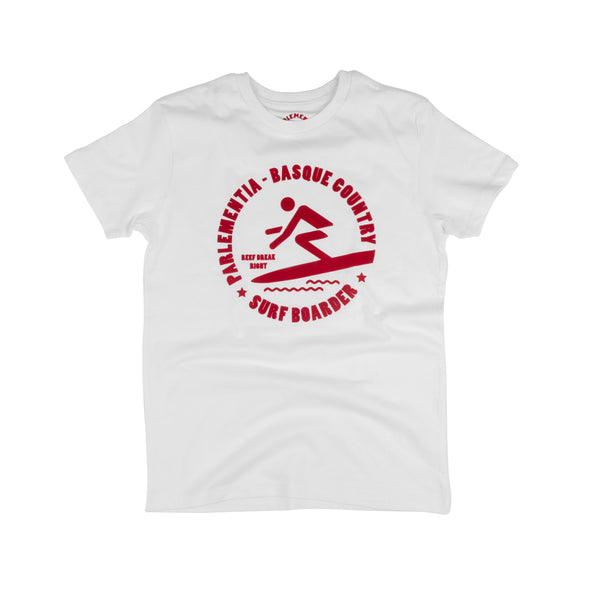 Parlementia White Surfboarder Kids T-Shirt