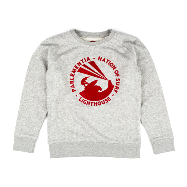 Parlementia Grey Surfer Kids Sweatshirt