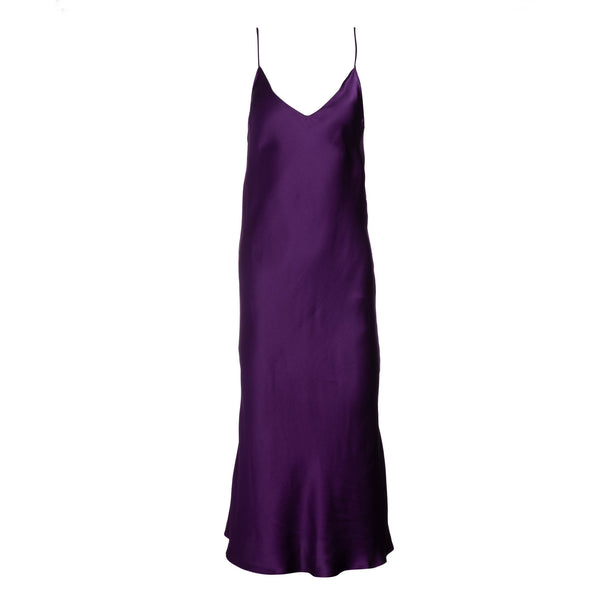 Aubergine Midi Slip Dress