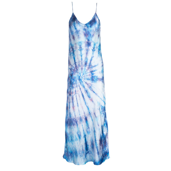 Blue Tie Dye Slip Dress