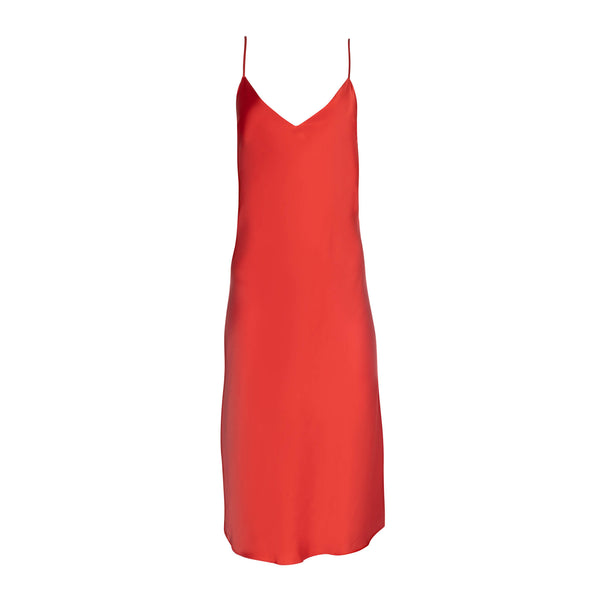 Cherry Midi Slip Dress