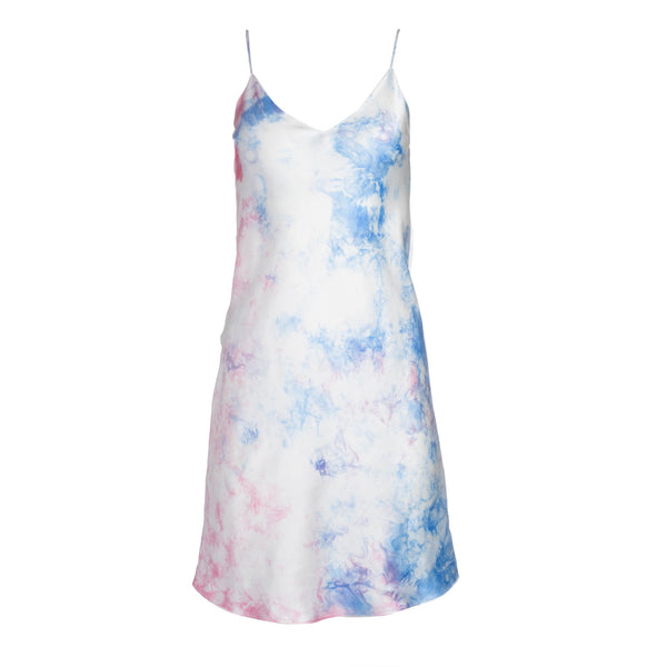 Sky Tie Dye Mini Slip Dress
