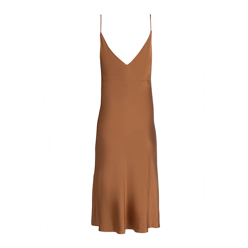 Copper Midi Slip Dress