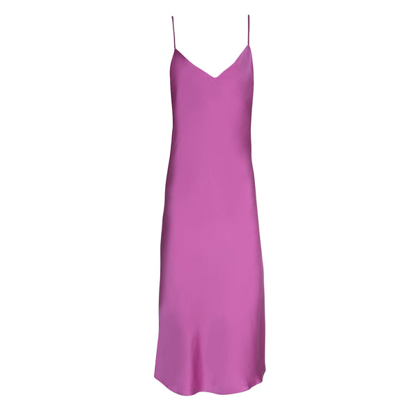 Cosmic Pink Midi Slip Dress