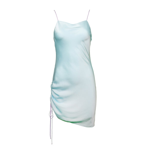 Ocean Ruched Mini with Lilac Straps
