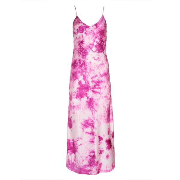 Electric Pink Tie Dye Slip Dress