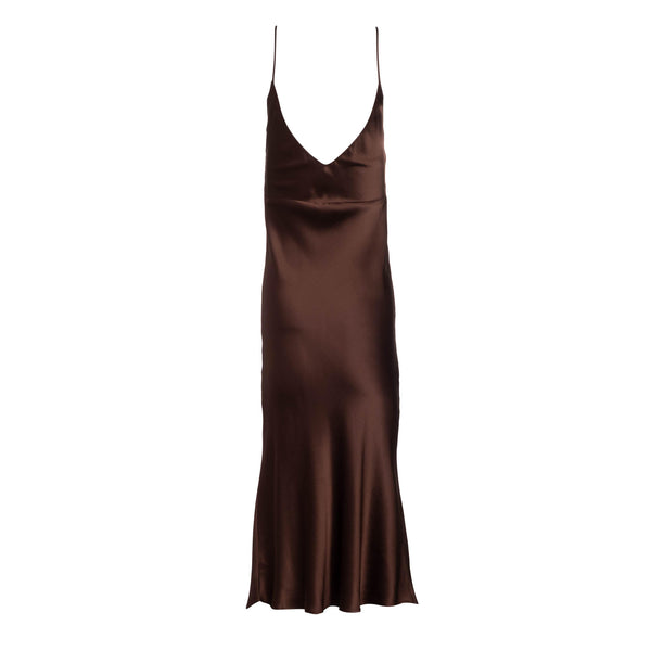 Espresso Midi Slip Dress
