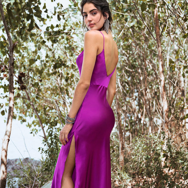Fuchsia Slip Dress