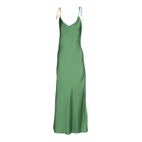 Ivy Tie Strap Silk Slip Dress