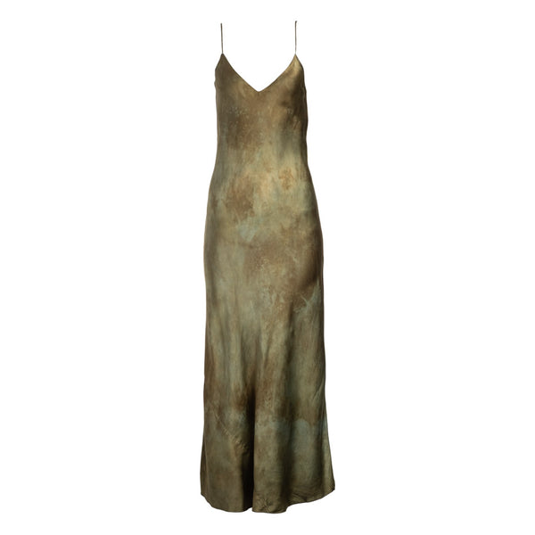 Jade Natural Hand Dyed Slip Dress