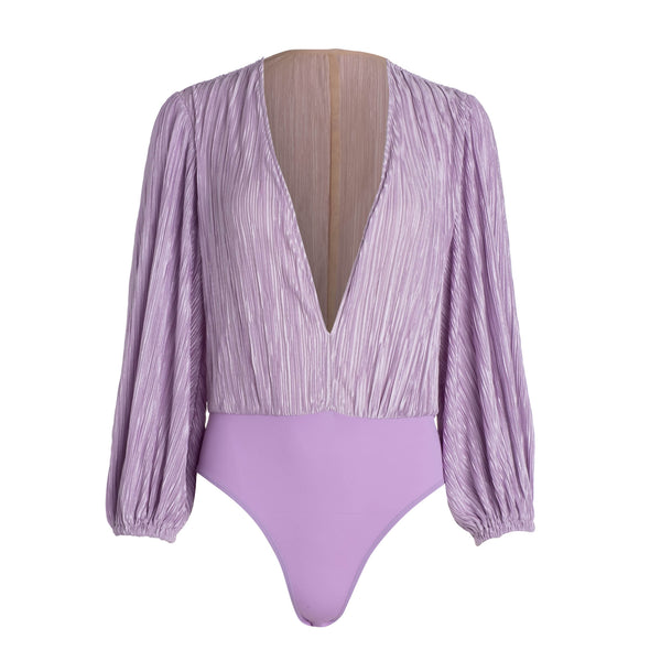 Lilac Bell Sleeve Bodysuit