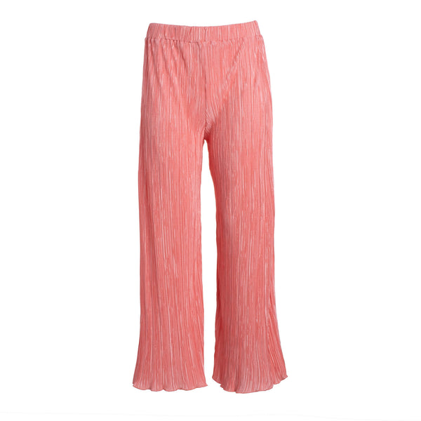 Pink Pleated Culotte