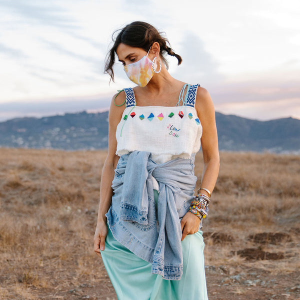 Tie Dye Mask and Scrunchie Set