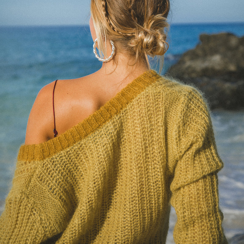 Mustard Cropped Sweater
