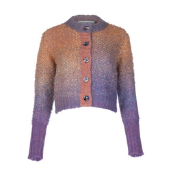 Ombré Cropped Cardigan