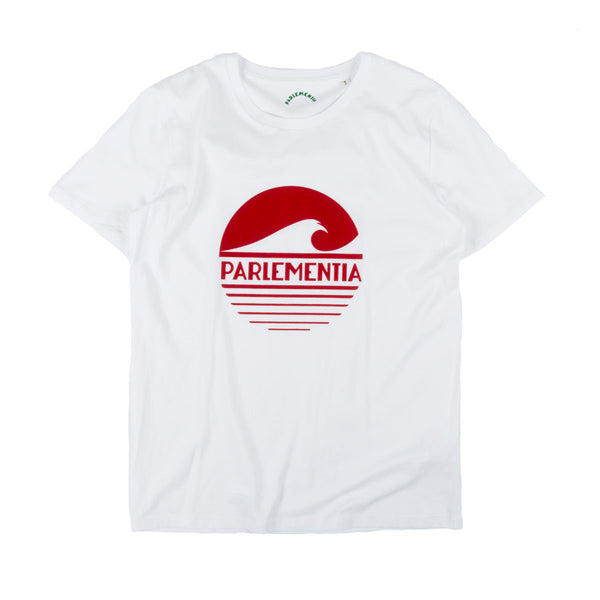 Parlementia Unisex White and Red T-shirt