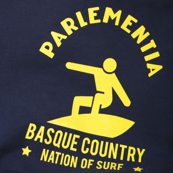 Parlementia Navy and Yellow Surfer Hoodie