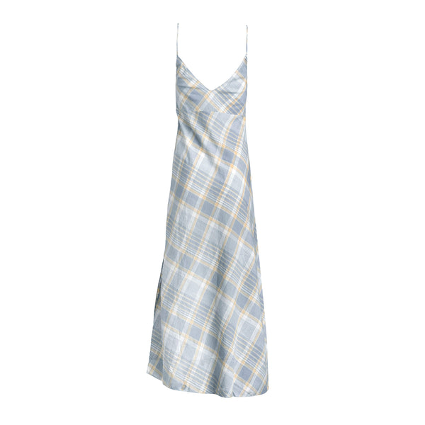 Plaid Long Slip Dress