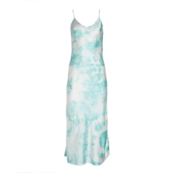 Sea Foam Tie Dye Slip Dress