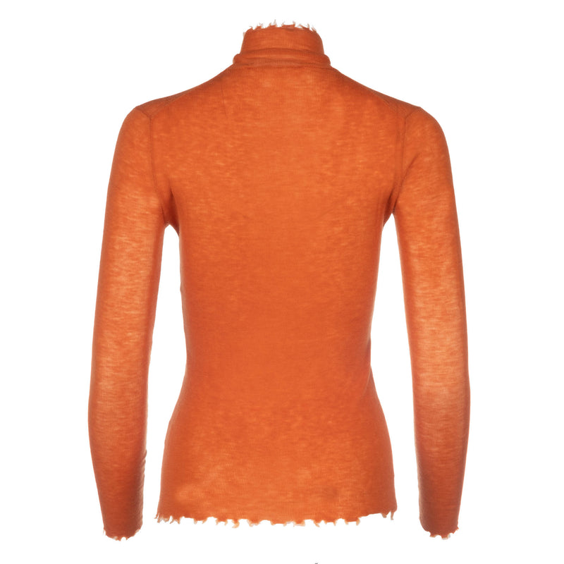 Spice Orange Turtleneck