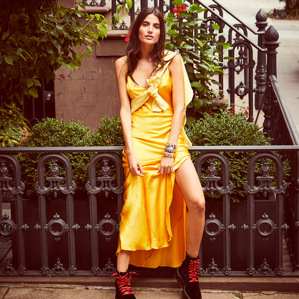 Sunflower Slip Dress
