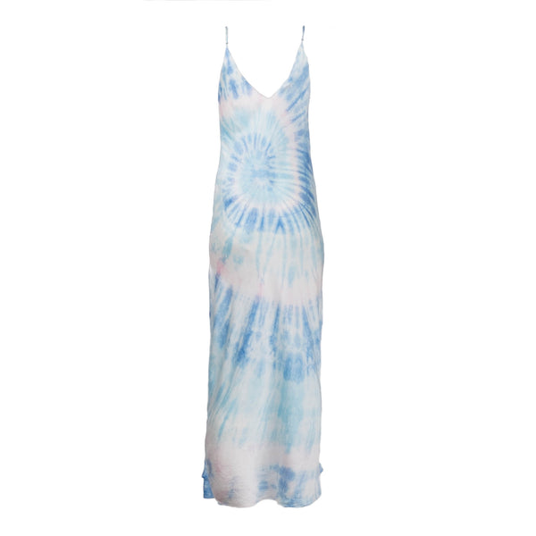 Blue Multi Tie Dye Slip Dress