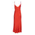 Cherry Tie Strap Silk Slip Dress