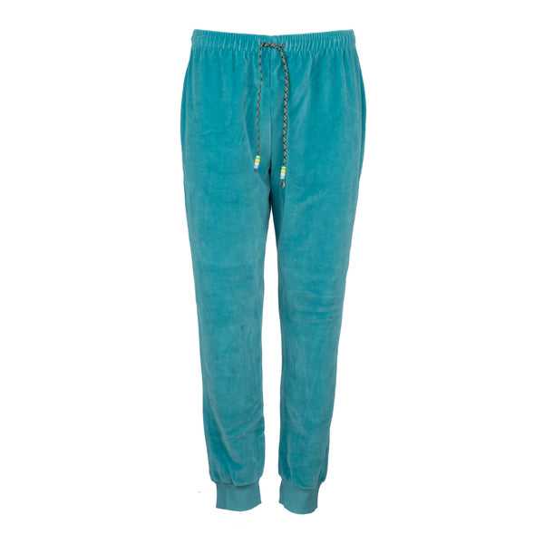 Turquoise Velour Jogger