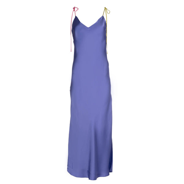 Violette Tie Strap Silk Slip Dress