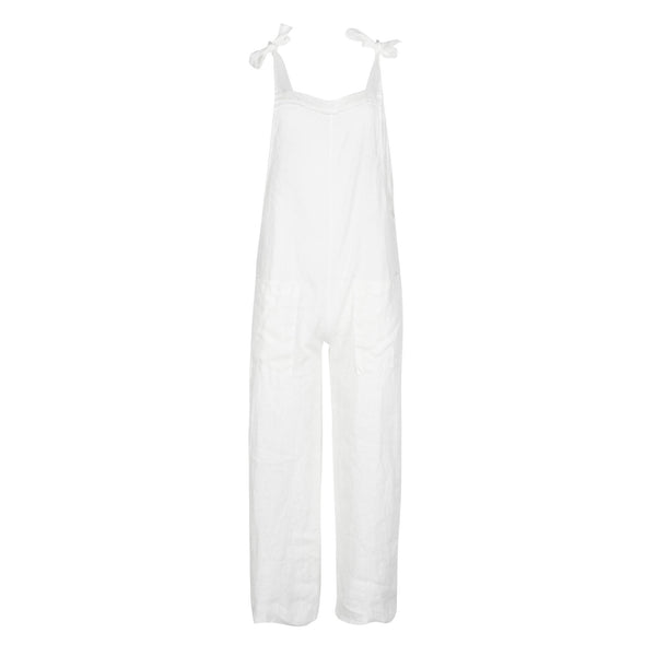 White 9 Seed Overalls