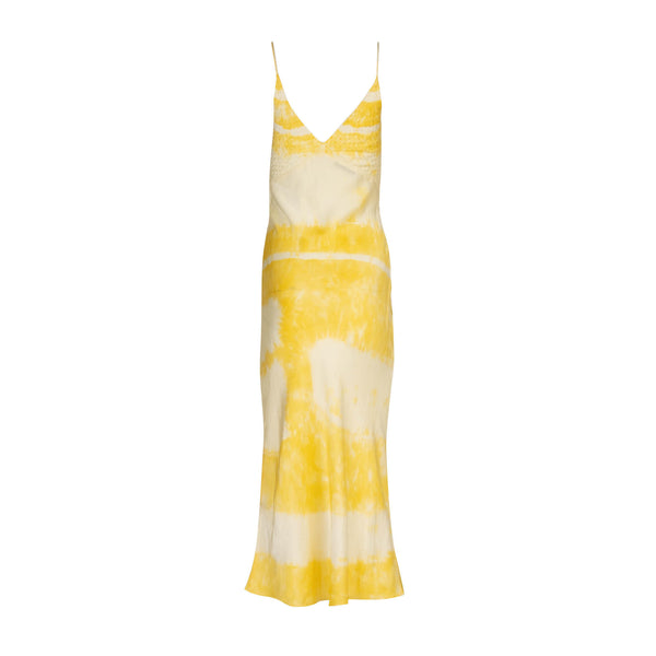 Limoncello Embroidered Tie Dye Slip Dress
