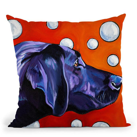 Lab And Bubbles Throw Pillow By Image Conscious