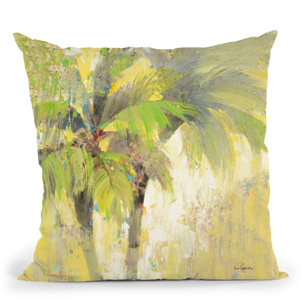Breezy Palm I Throw Pillow By Albena Hristova