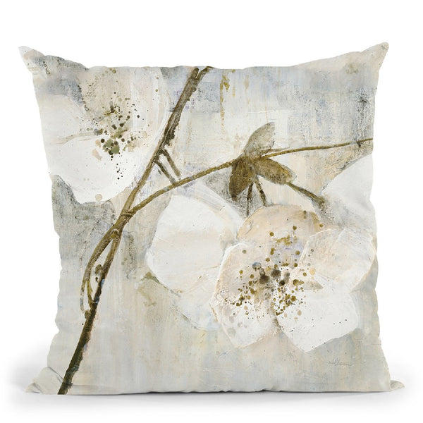 Elegance Ii Greige Throw Pillow By Albena Hristova
