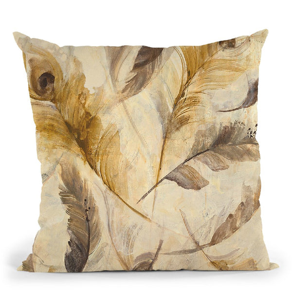 Feather Toss Crop Throw Pillow By Albena Hristova