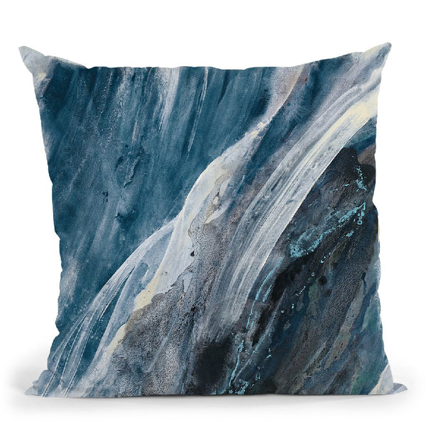Splash Indigo Throw Pillow By Albena Hristova