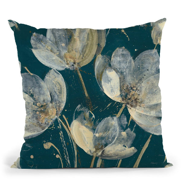 Translucent Garden Teal Crop Throw Pillow By Albena Hristova