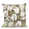 Tulip Delight Pattern Blue Throw Pillow By Albena Hristova